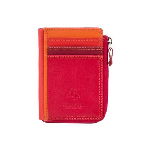 Visconti puzdro na karty a drobné červené